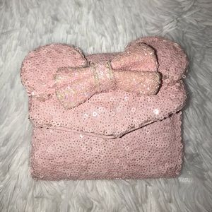 Disney Parks Loungefly Pink Sequined Wallet